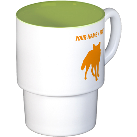 Custom Orange Fox Silhouette Coffee Cups