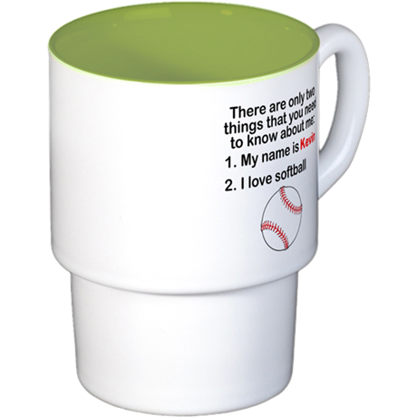 Two Things Softball Coffee Cups