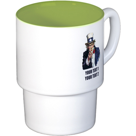 [Your text] Uncle Sam Stackable Mug