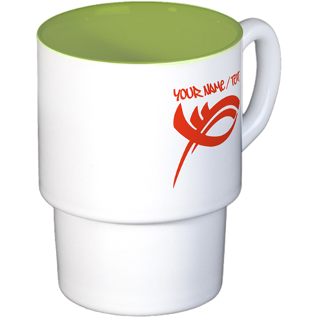 Red Jesus Fish Coffee Cups