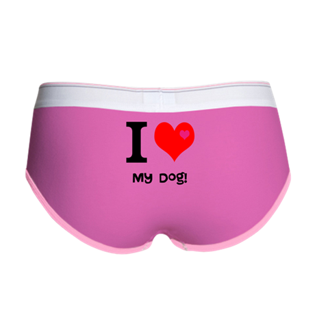 Personalised I Love... Women's Boy Brief