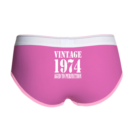 Vintage 1974 Aged To Perfection Women's Boy Brief