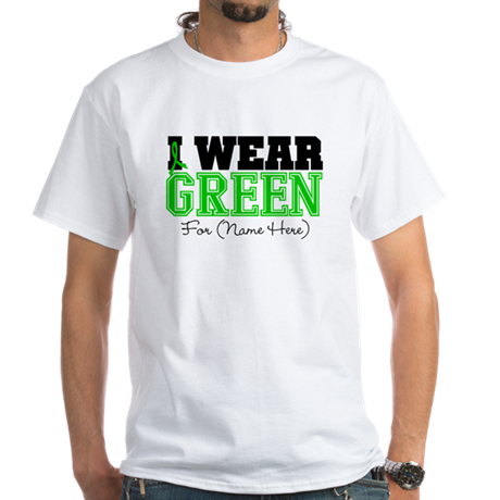 Custom Bile Duct Cancer White T-Shirt