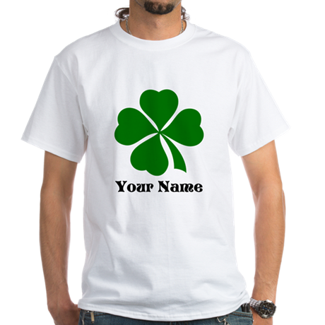 Personalized St Patrick's Day White T-Shirt