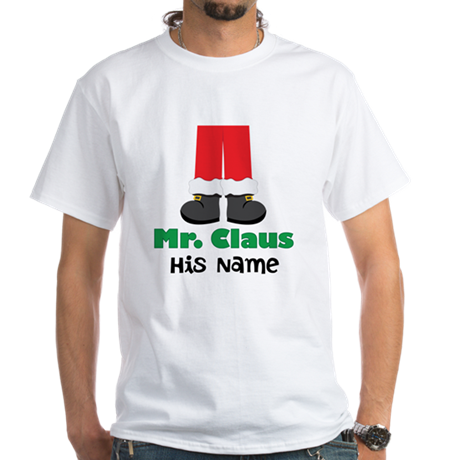 Personalized Santa Couples White T-Shirt