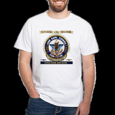 USS Carl Vinson CVN 70 White T-Shirt