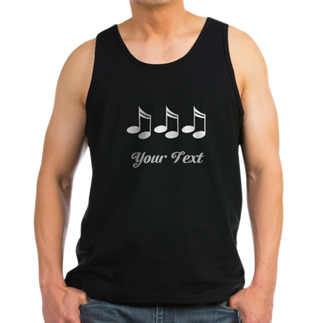 Music Notes Personalized Men's Dark Tank Top