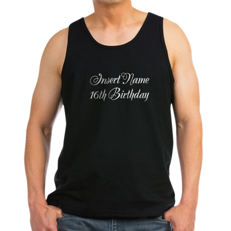 16th Birthday Men's Dark Tank Top