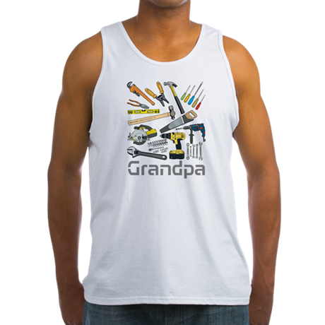 Grandpa, Tools. Men's Tank Top