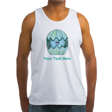 Clam Shellfish. Custom Text. Men's Tank Top