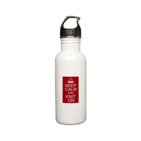 Customisable Keep Calm and Kn Stainless Water Bott