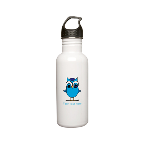 Personalized Blue Owl Stainless Water Bottle 0.6L