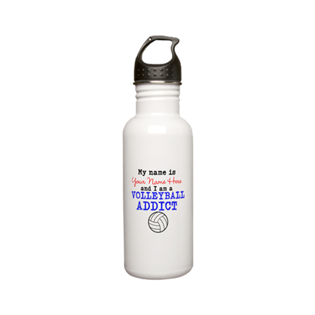 Volleyball Addict Stainless Water Bottle 0.6L