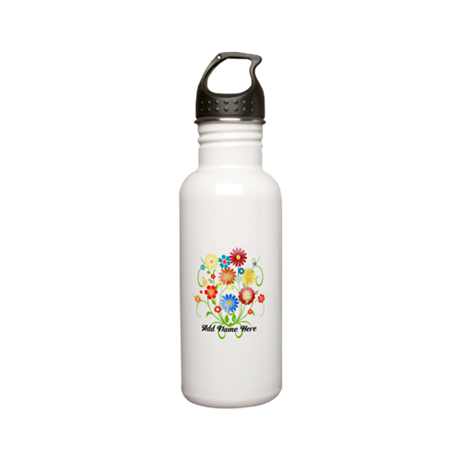 Personalized floral light Stainless Water Bottle 0