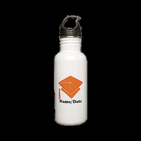 Personalized Orange Graduation Stainless Water Bot