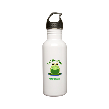 Little Brother Frog Stainless Water Bottle 0.6L