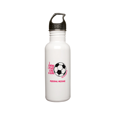 Personalized Soccer Girl Stainless Water Bottle 0.