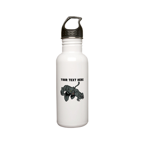 Custom Panther Mascot Stainless Steel Water Bottle