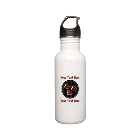 CUSTOM TEXT Meat On BB Stainless Water Bottle 0.6L