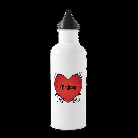 Custom Name Tattoo Heart Stainless Water Bottle 1.