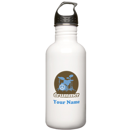 Personalized Drummer Stainless Water Bottle 1.0L