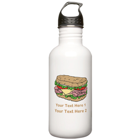Sandwich. Custom Text. Stainless Water Bottle 1.0L