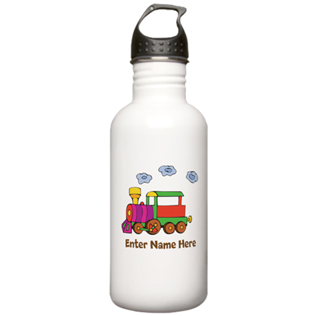 Personalized Train Engine Stainless Water Bottle 1