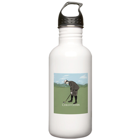 Personalized vintage golf scene Water Bottle