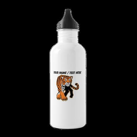 Custom Bengal Tiger Mascot Water Bottle