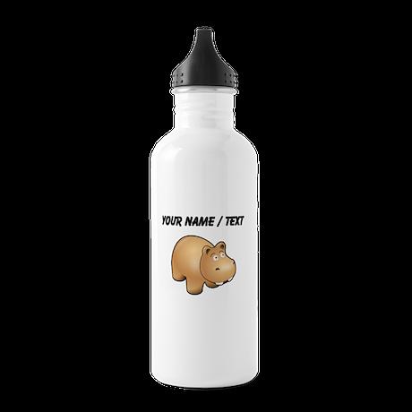 Custom Cartoon Hippo Water Bottle