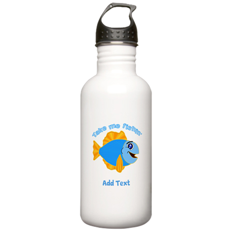 Personalized Fishing Stainless Water Bottle 1.0L