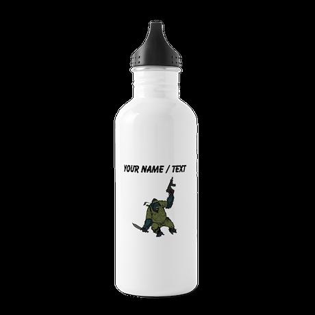 Custom Gorilla Soldier Water Bottle