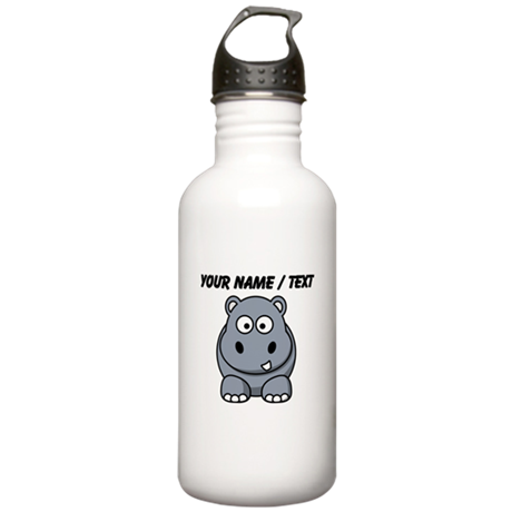 Custom Cartoon Hippo Water Bottle