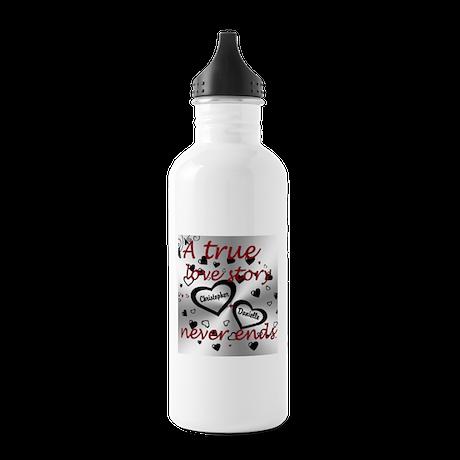 True Love Story Water Bottle
