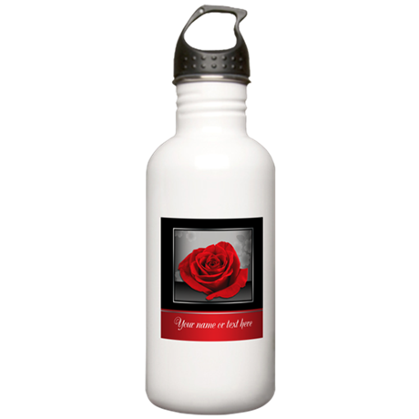 Rich Elegant Red Rose personalized Water Bottle