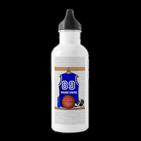 Personalized Basketball Jerse Stainless Water Bott