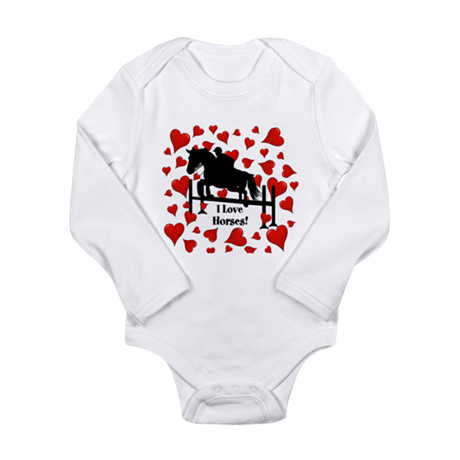 Fun Horse Jumper and Hearts Long Sleeve Infant Bod