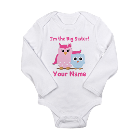 Big Sister Owl Long Sleeve Infant Bodysuit