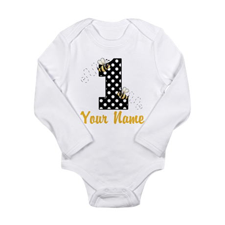 1st Birthday Bumble Bee Long Sleeve Infant Bodysui