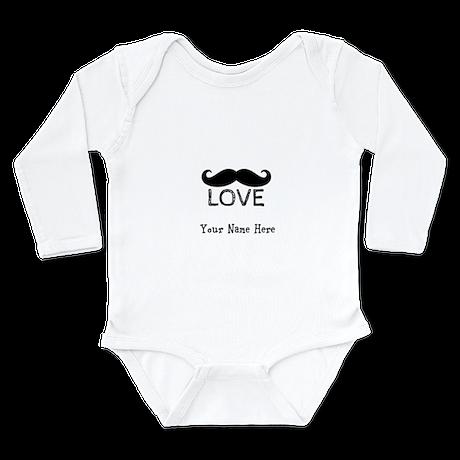 Mustache Love Kids Shirt Personalize Body Suit