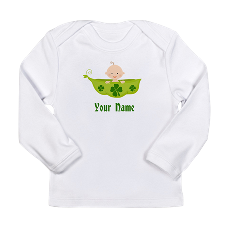Personalized St Patricks Baby Long Sleeve Infant T