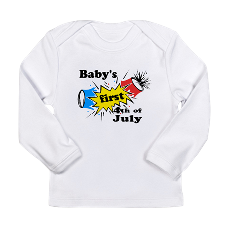 Baby's First 4th of July Long Sleeve Infant T-Shir