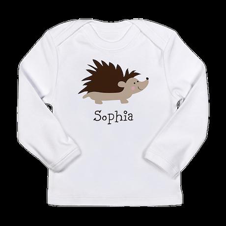 Custom Name Hedgehog Long Sleeve Infant T-Shirt