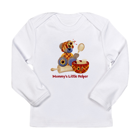 Customizable Cooking Helper Long Sleeve Infant T-S