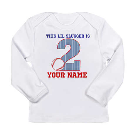 2nd Birthday Baseball Long Sleeve Infant T-Shirt