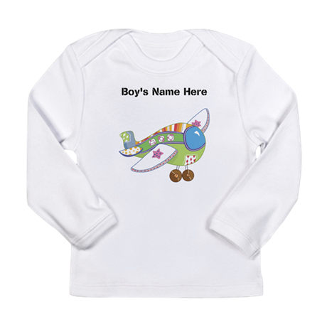 Personalized Airplane Long Sleeve T-Shirt