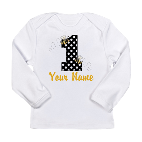 1st Birthday Bumble Bee Long Sleeve Infant T-Shirt