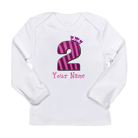 Custom 2nd Birthday Long Sleeve Infant T-Shirt