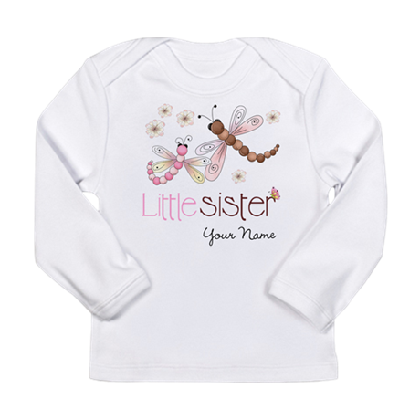 Little Sister Dragonfly Personalized Long Sleeve I