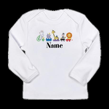 Personalized Noahs Ark Long Sleeve Infant T-Shirt